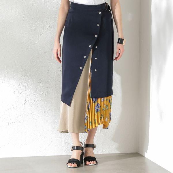 WOMEN 2in1レイヤードスカート