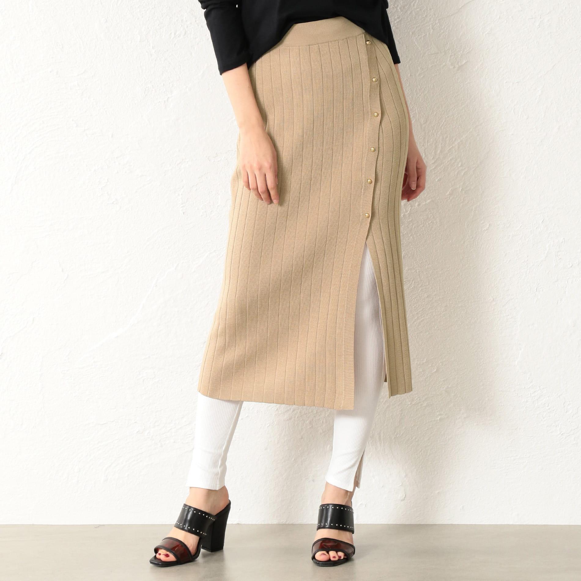 WOMEN レギンス付きニットスカート