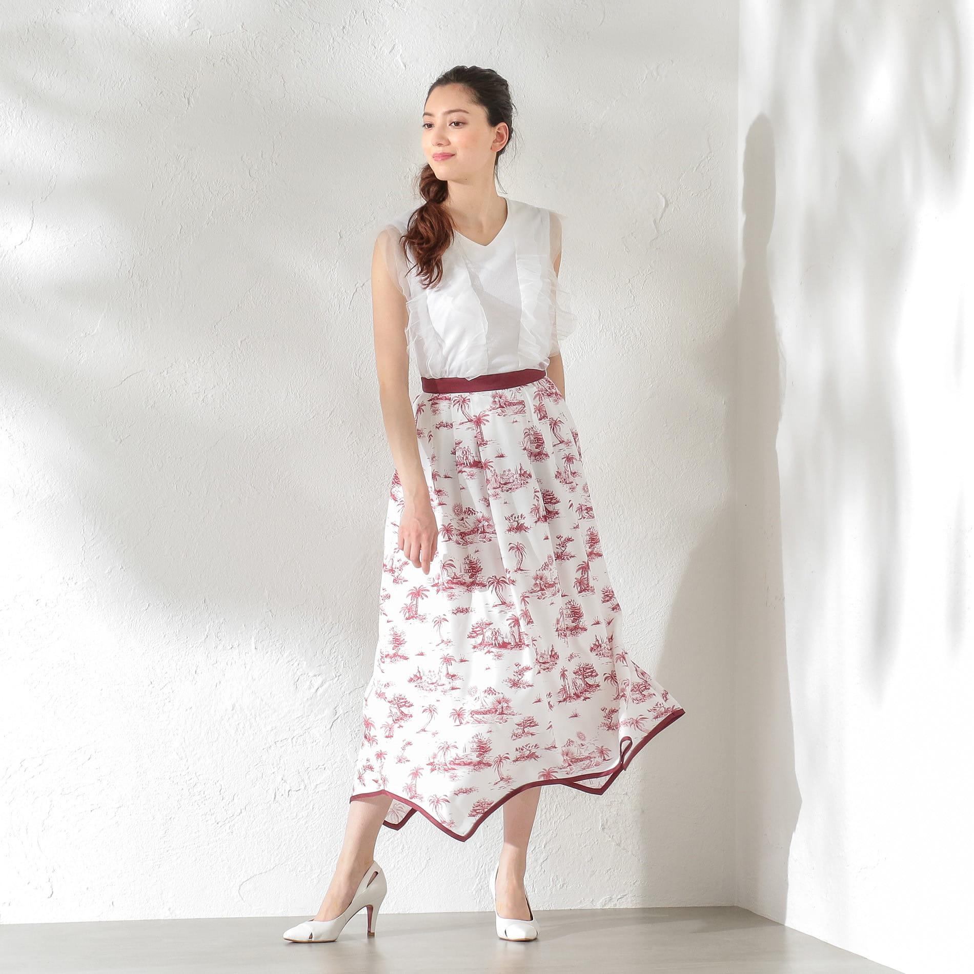 WOMEN Toile du Jouy マキシスカート