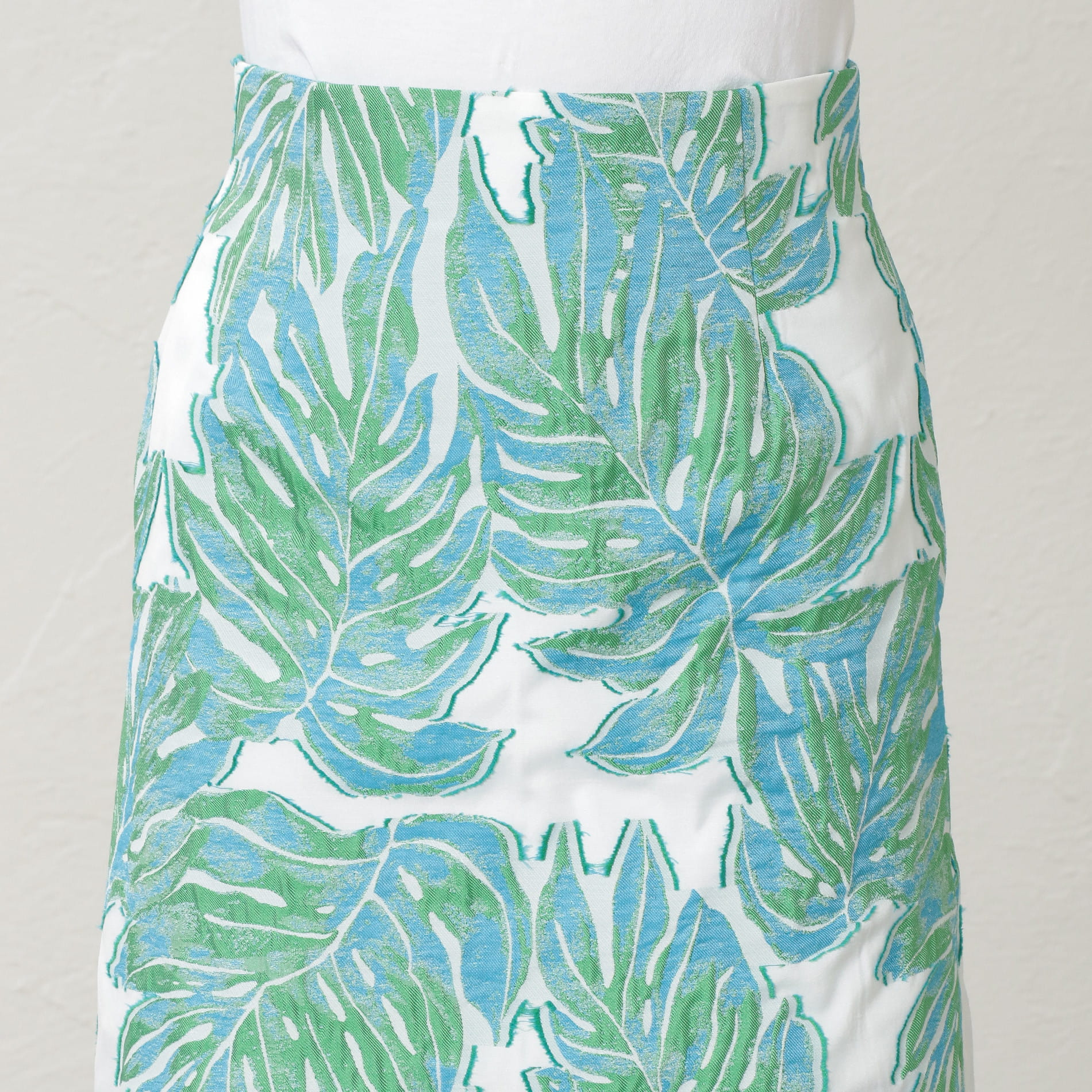 WOMEN Creative line リーフジャカードスカート