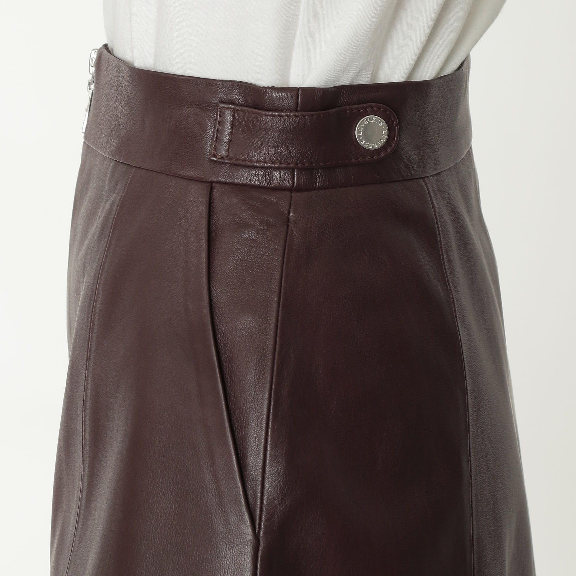 【予約販売】ラムレザー ZIP スカート