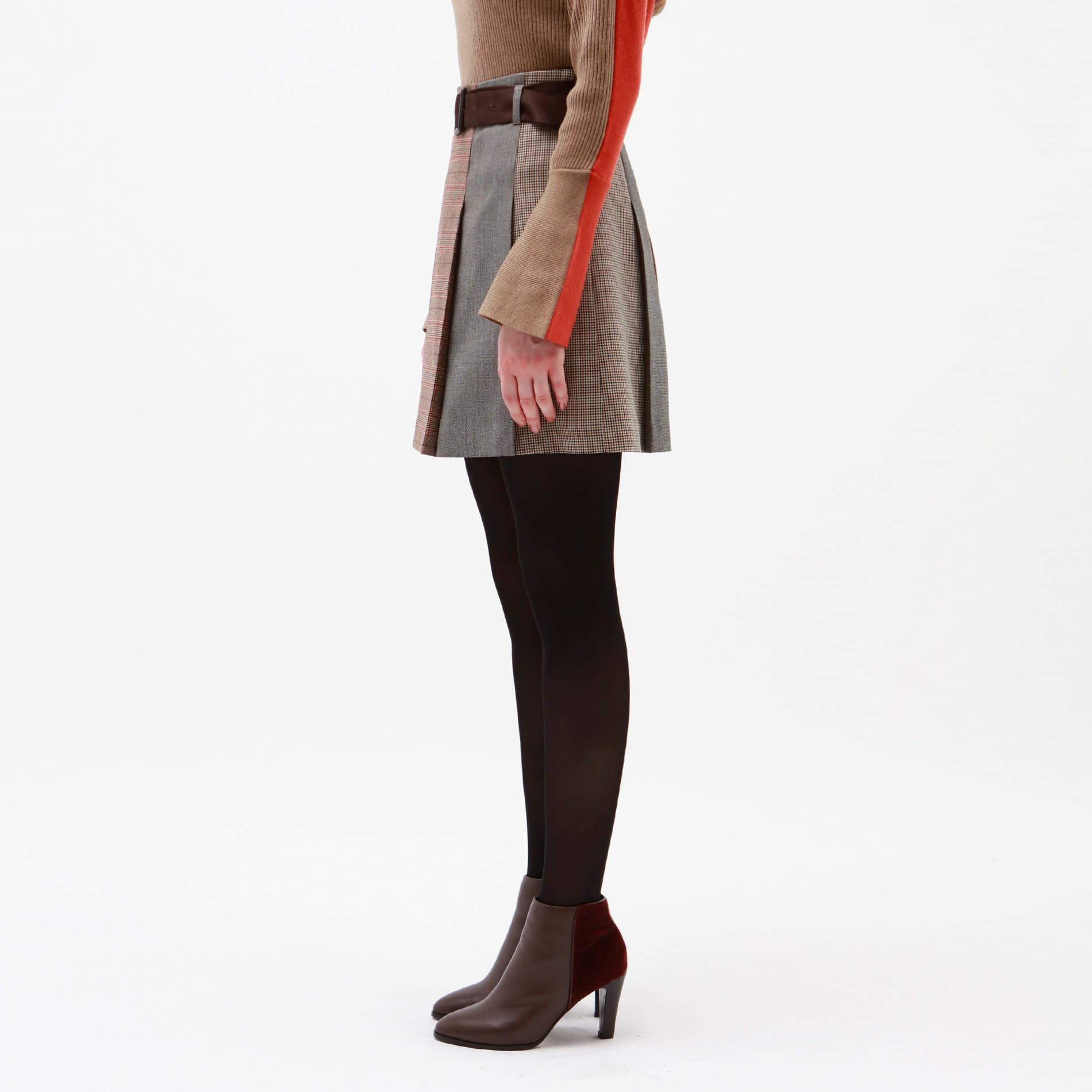 【予約販売】オーバーチェック ブロッキング スカート