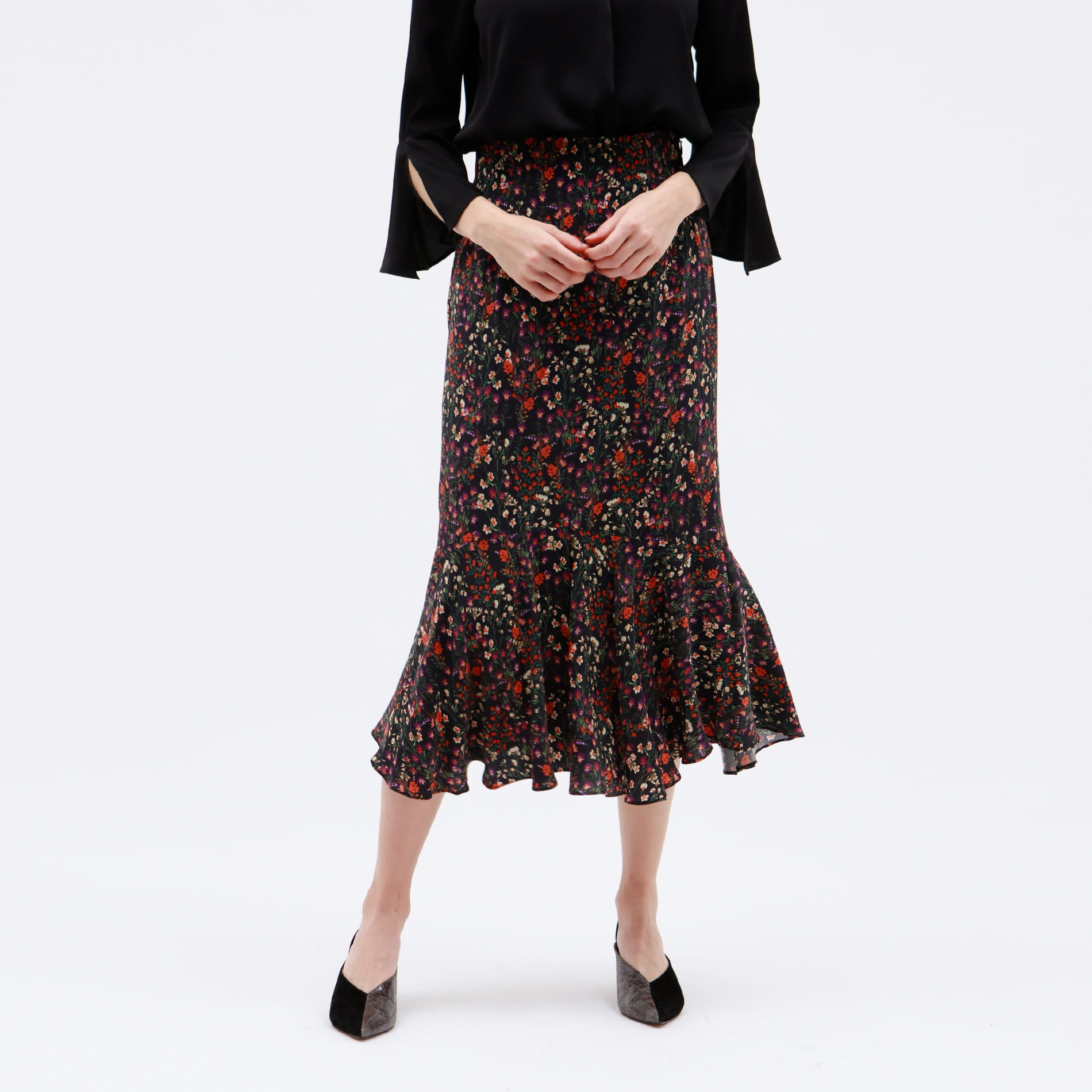 【otonaMUSE10月号掲載】ヴィンテージ フラワー マーメイドスカート