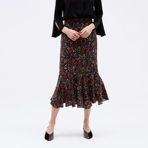 ヴィンテージ フラワー マーメイドスカート