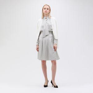【予約販売】小紋 タック フレアスカート