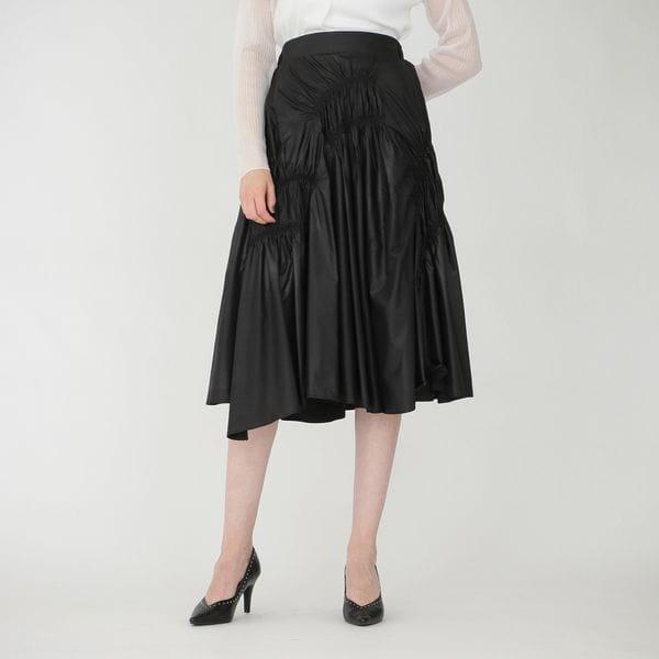 【otona MUSE掲載商品】ギャザー タフタスカート