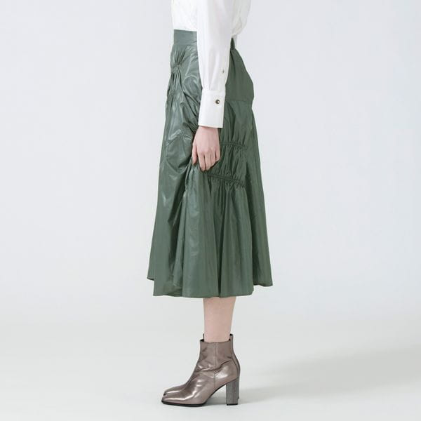 ギャザータフタスカート