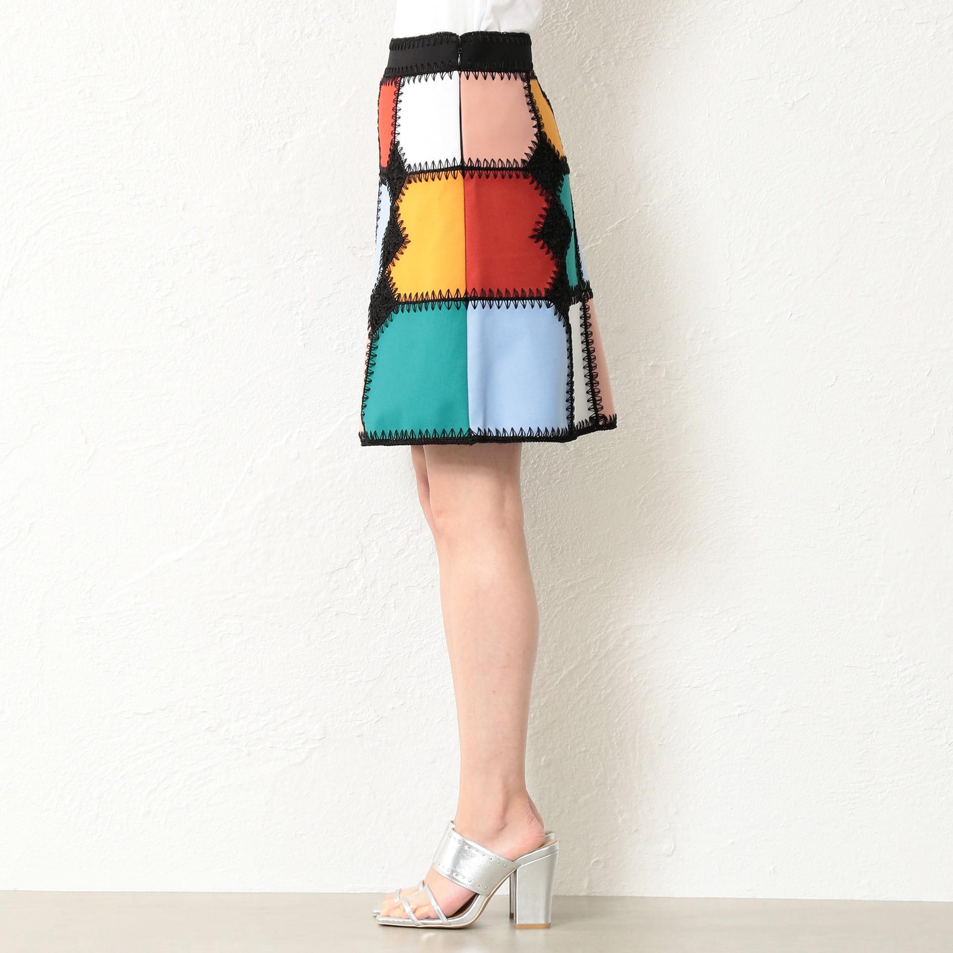 WOMEN カギバリ編 ブロッキングスカート