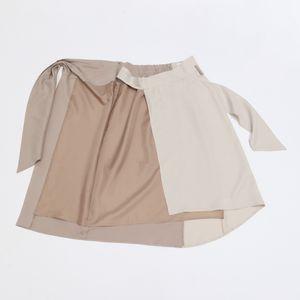 ◆◆バイカラー ラップスカート