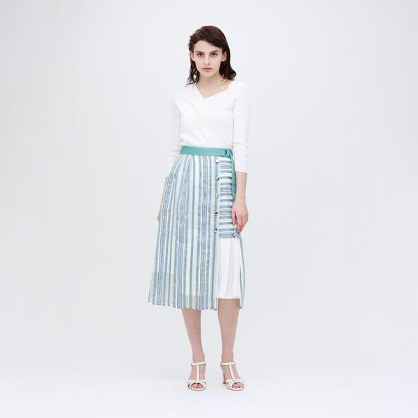 ◆◆シアー ストライプ スカート