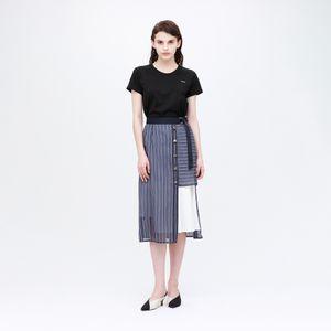 シアー ストライプ スカート