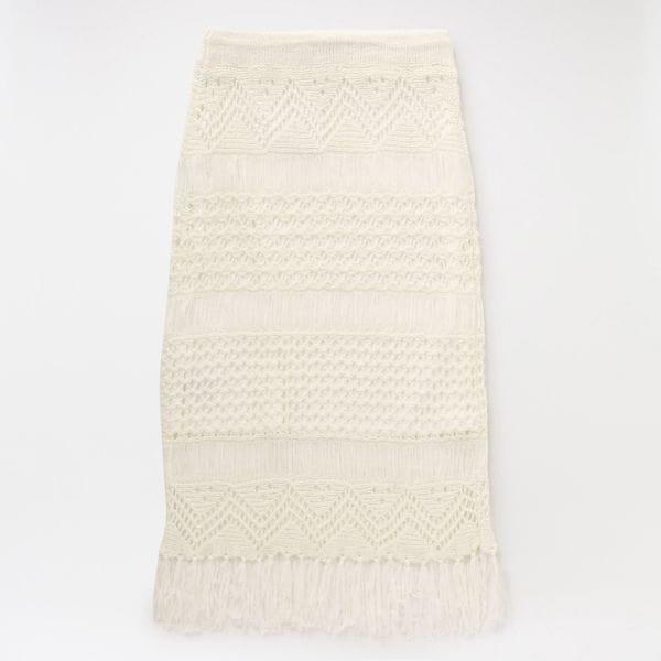 マクラメニット スカート