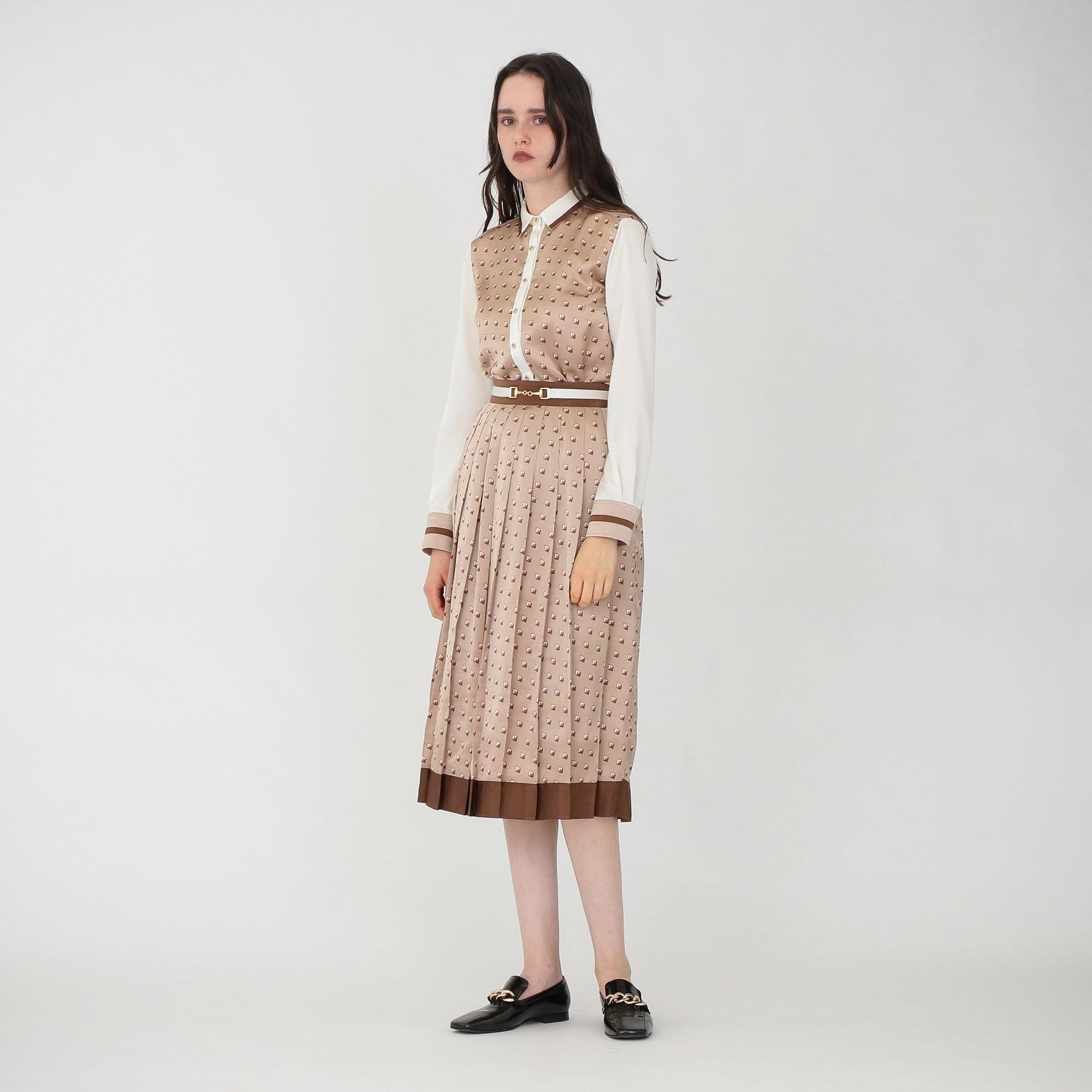 ジオメトリック プリーツ スカート