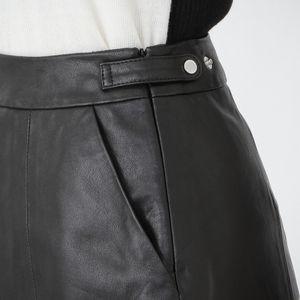 ブラック レザー ミニスカート