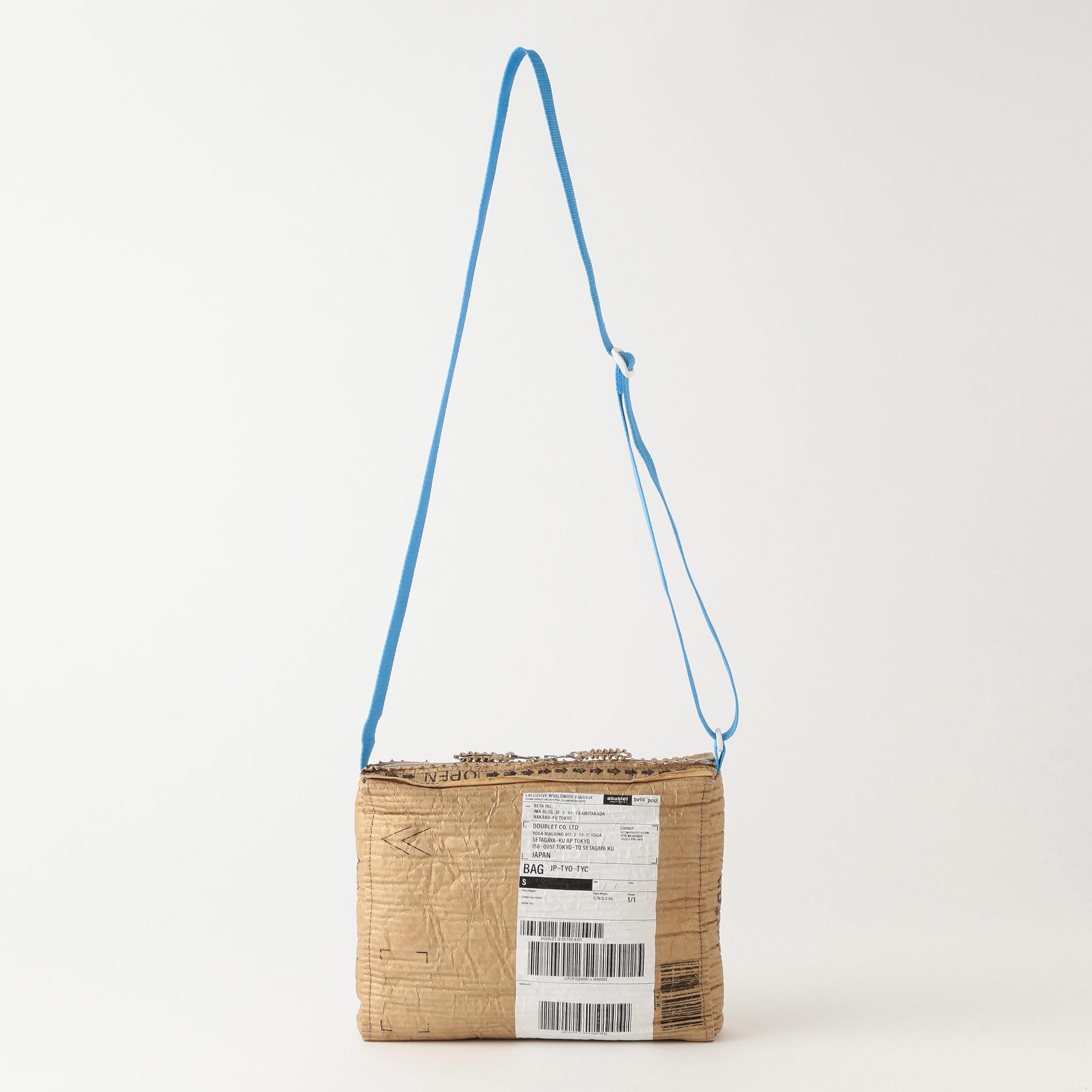 【doublet×beta post】MEN バッグ CARTON LEATHER SHOULDER BAG 20AW51BG24
