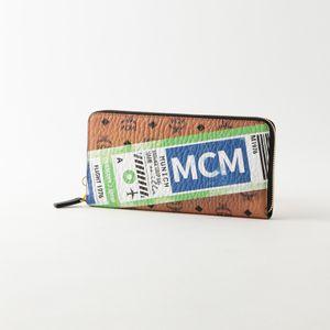 【MCM】ラウンドジップ長財布 VISETOS「FLIGHT PRINT」 MZL9SVI94