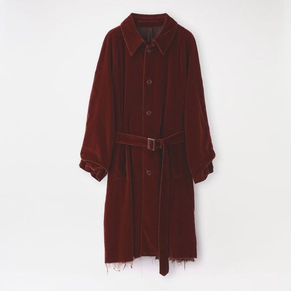 【doublet】MEN コート CUT OFF VELVET COAT 21AW09CO46
