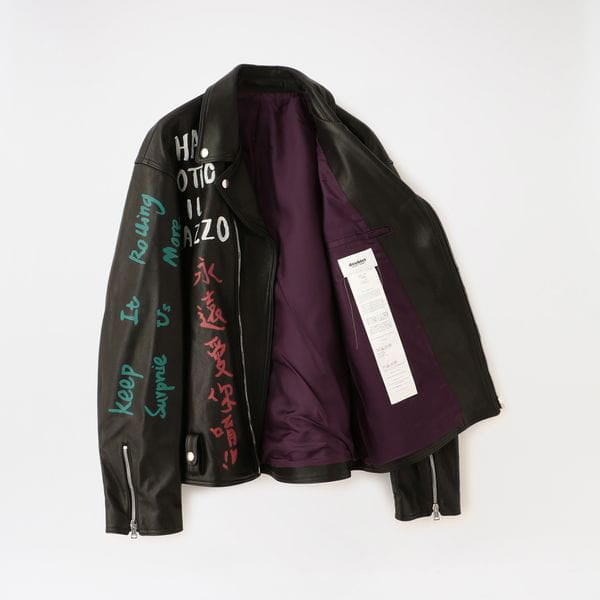 【doublet】MEN ジャケット MESSAGE HAND-PAINTED RIDER'S JACKET 20AW02BL104
