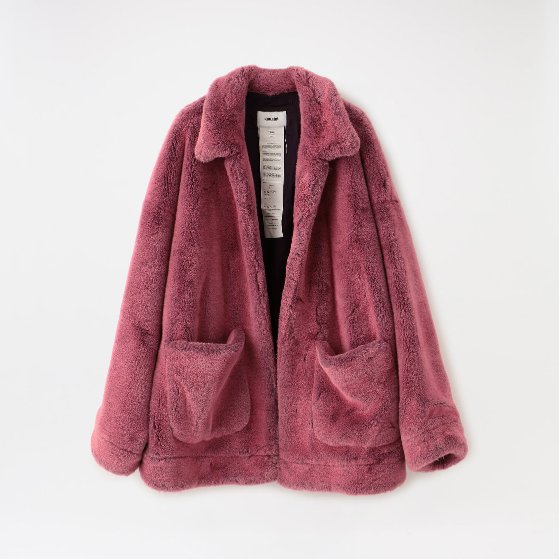 【doublet】MEN HAND-PAINTED FUR JACKET 20AW04BL90