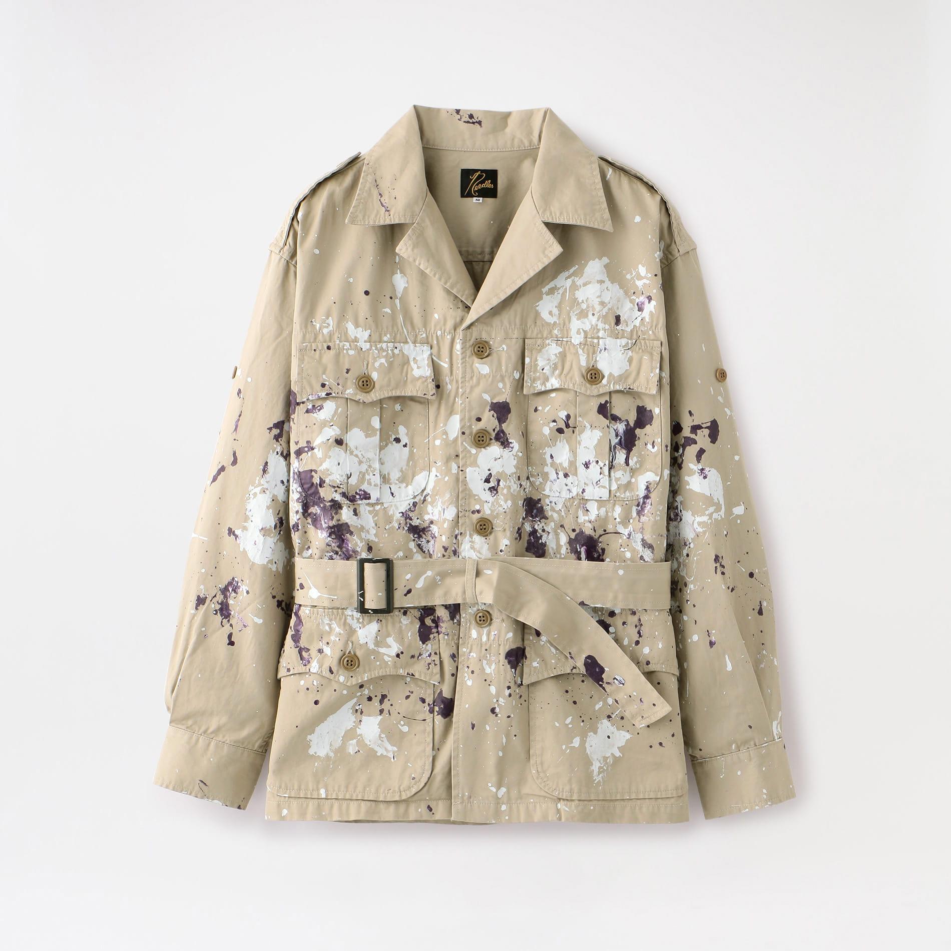 【Needles】MEN Safari Jacket - Cotton Gabardine/Paint GL151