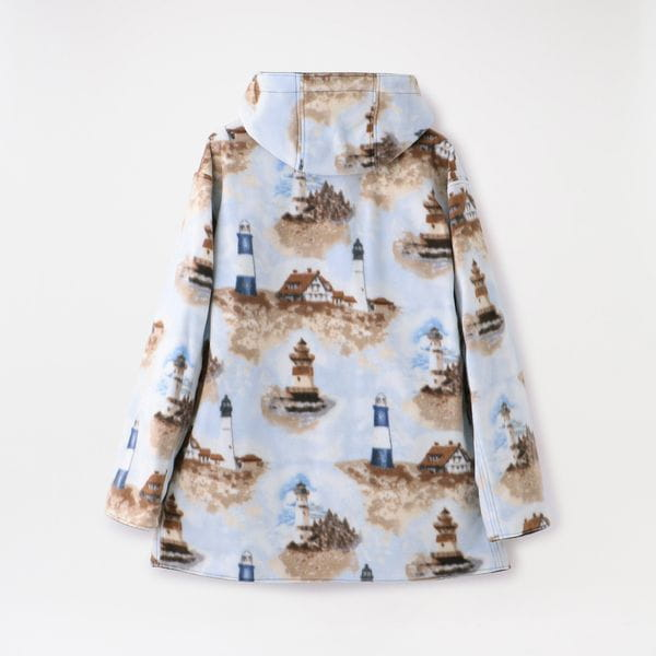 【the conspires】MEN Reversible Mil Parka British Millerain/printed freece E3213