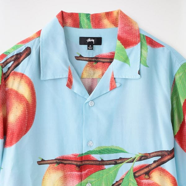 【Stussy】MEN シャツ Peach Pattern Shirt 1110159