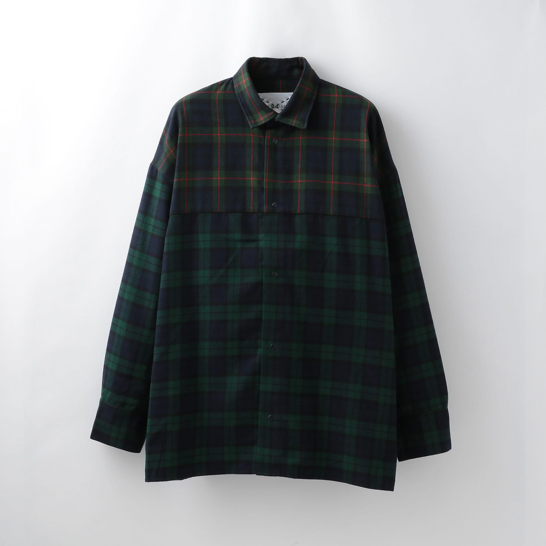 【SUPERTHANKS】MEN スウィッチング バックオープンシャツ ST193SH001