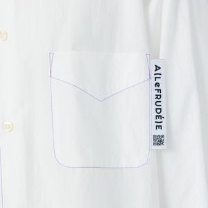 〈タイムセール〉【A(LeFRUDE)E】MEN ルーズフィットレギュラーシャツ
