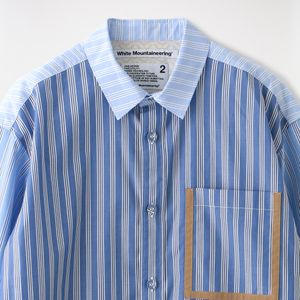 【White Mountaineering】MEN STRIPED BIG SHIRT WM2071108