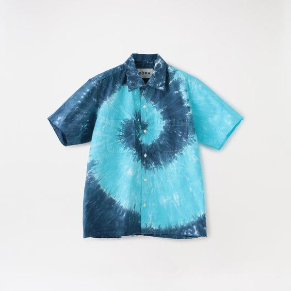 【NOMA t.d.】MEN Tie Dye Open Coller Shirt SH05