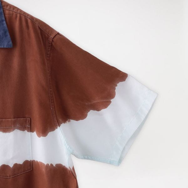 【NOMA t.d.】MEN シャツ 3-dye SS Shirt-Nature SH 01