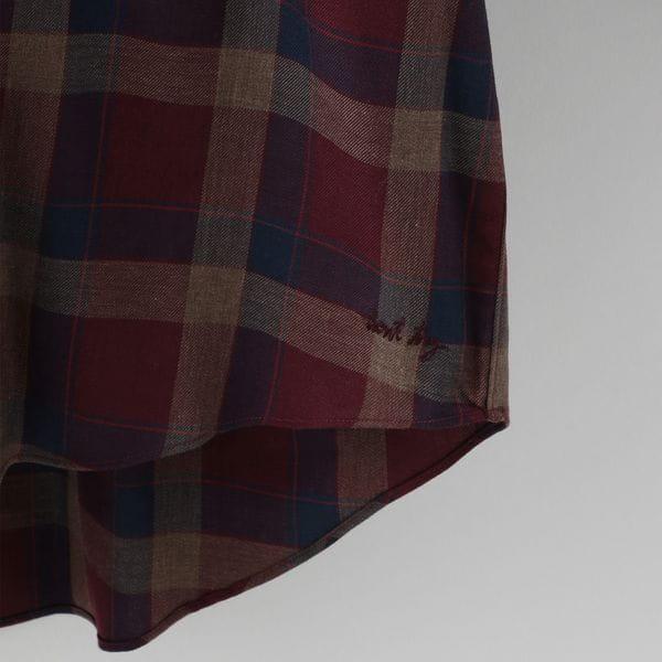 【FACTOTUM】テンセル チェック ワイドシャツ 1060138