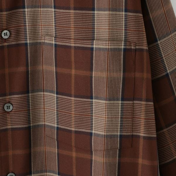 【FACTOTUM】MEN T/R Check Wide Band Shirt 1060540