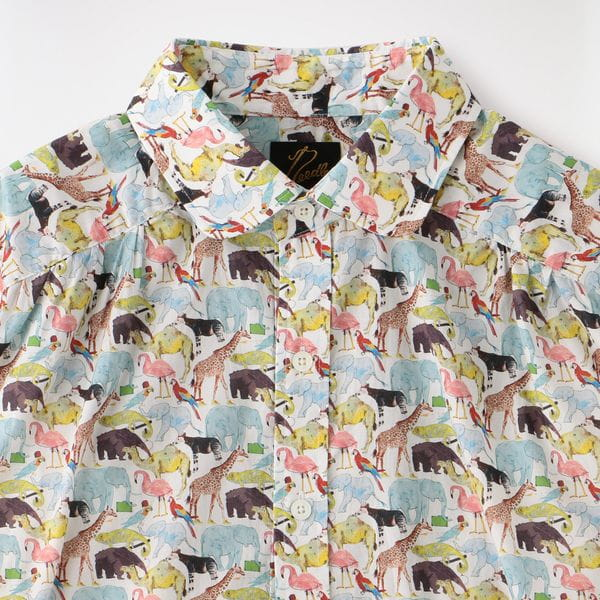【Needles】MEN Round Collar EDW Gather Shirt - Liberty Print GL196