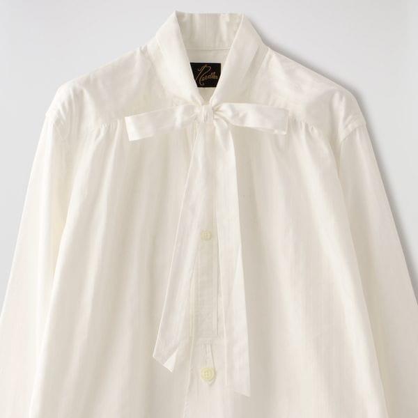 【Needles】MEN Ascot Collar EDW Shirt - Dobby Stripe HM207