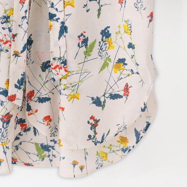 【Needles】MEN シャツ Ascot Collar EDW Shirt - Flower Pt. IN160