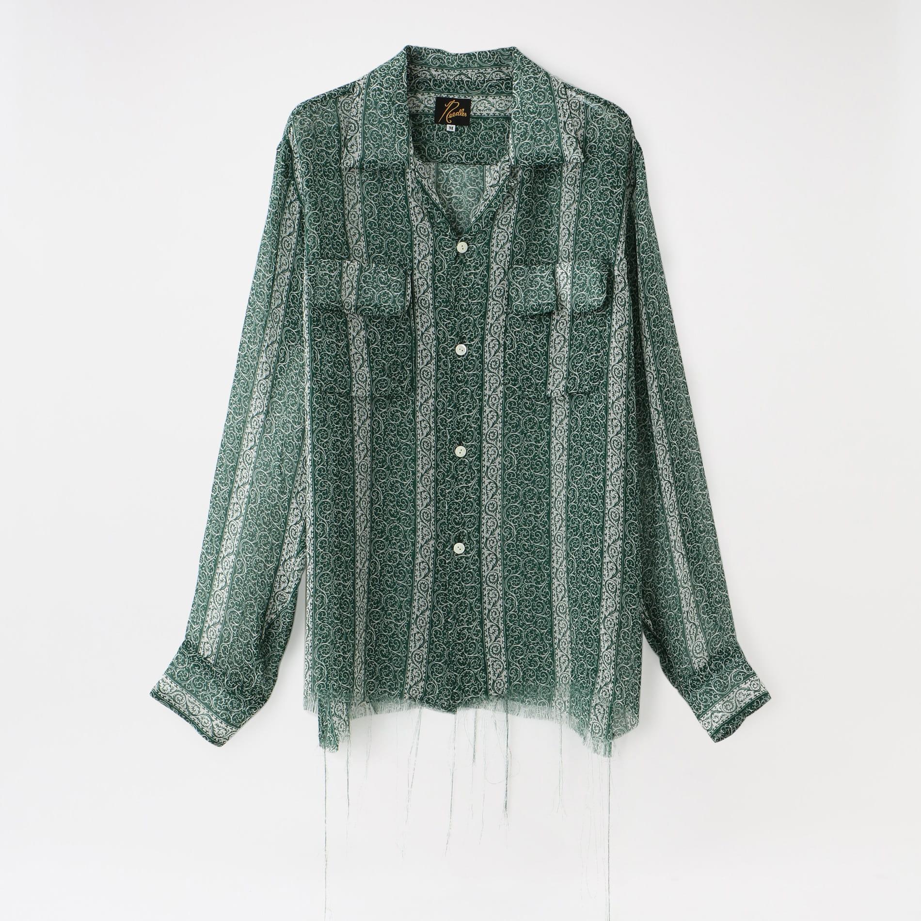 【Needles】MEN シャツ C.O.B. Classic Shirt - Cupra Chiffon / Pt. IN076