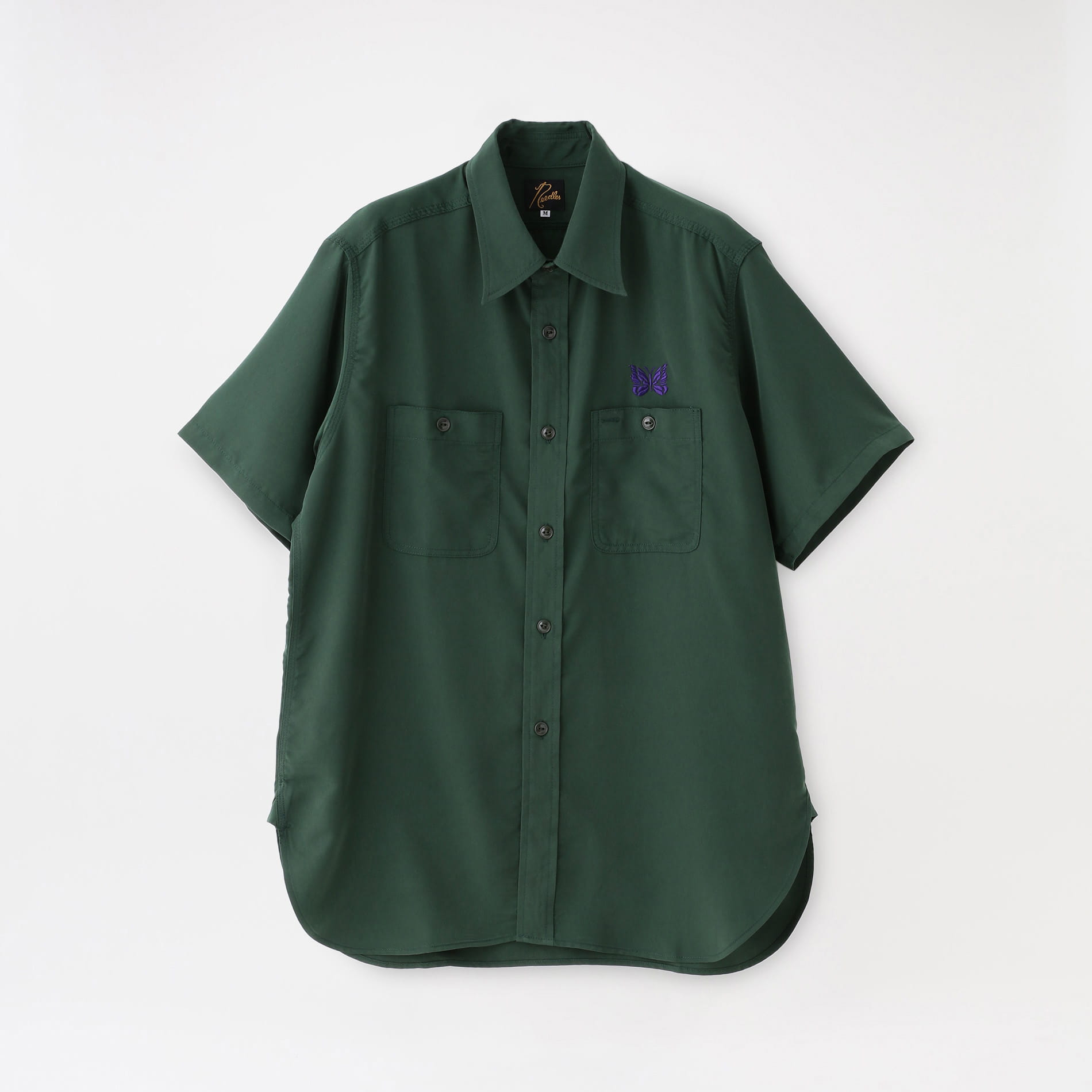 【Needles】MEN シャツ S/S Work Shirt - Poly Cloth IN136