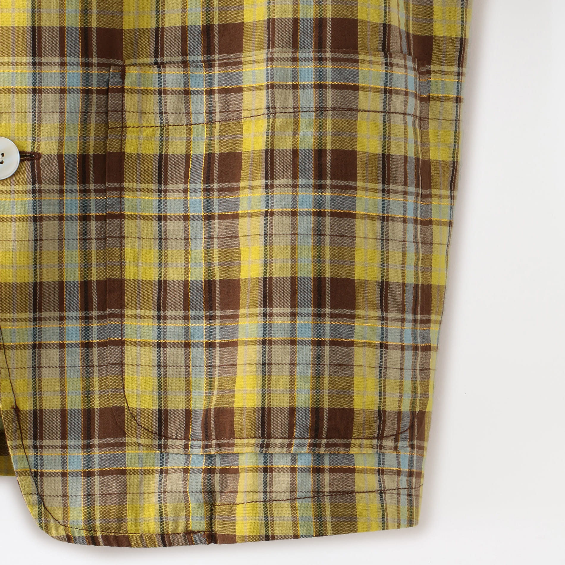 【South2 West8】MEN Pen Jacket - C/Pe Cloth/Madras Plaid GL838