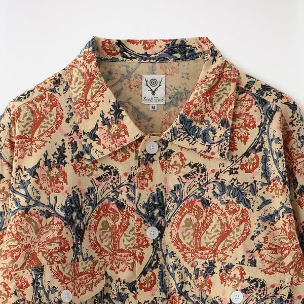 【South2 West8】MEN Smokey Shirt - Printed Flannel/Paisley GL827