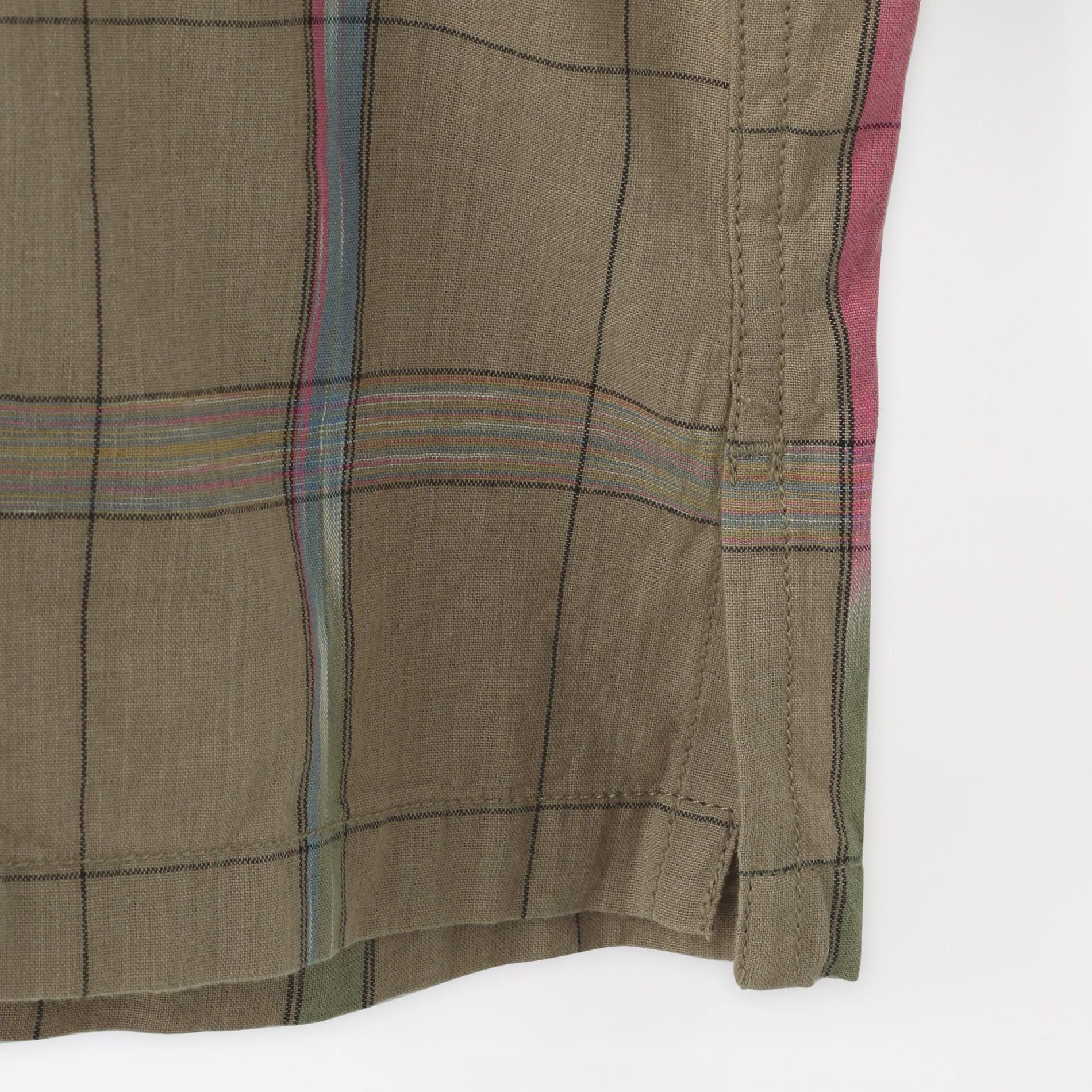 【South2 West8】MEN シャツ Smokey Shirt - Ikat Windowpane IN854