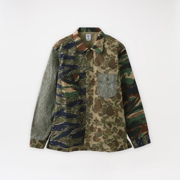 【South2 West8】MEN シャツ Smokey Shirt - Crazy Camo IN810
