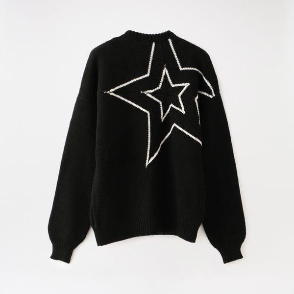 【yoshiokubo GROUNDFLOOR】MEN STAR SWEATER YKF20805