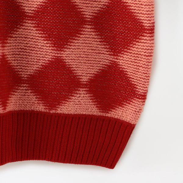 【Needles】MEN Polo Sweater - Checkered HM275