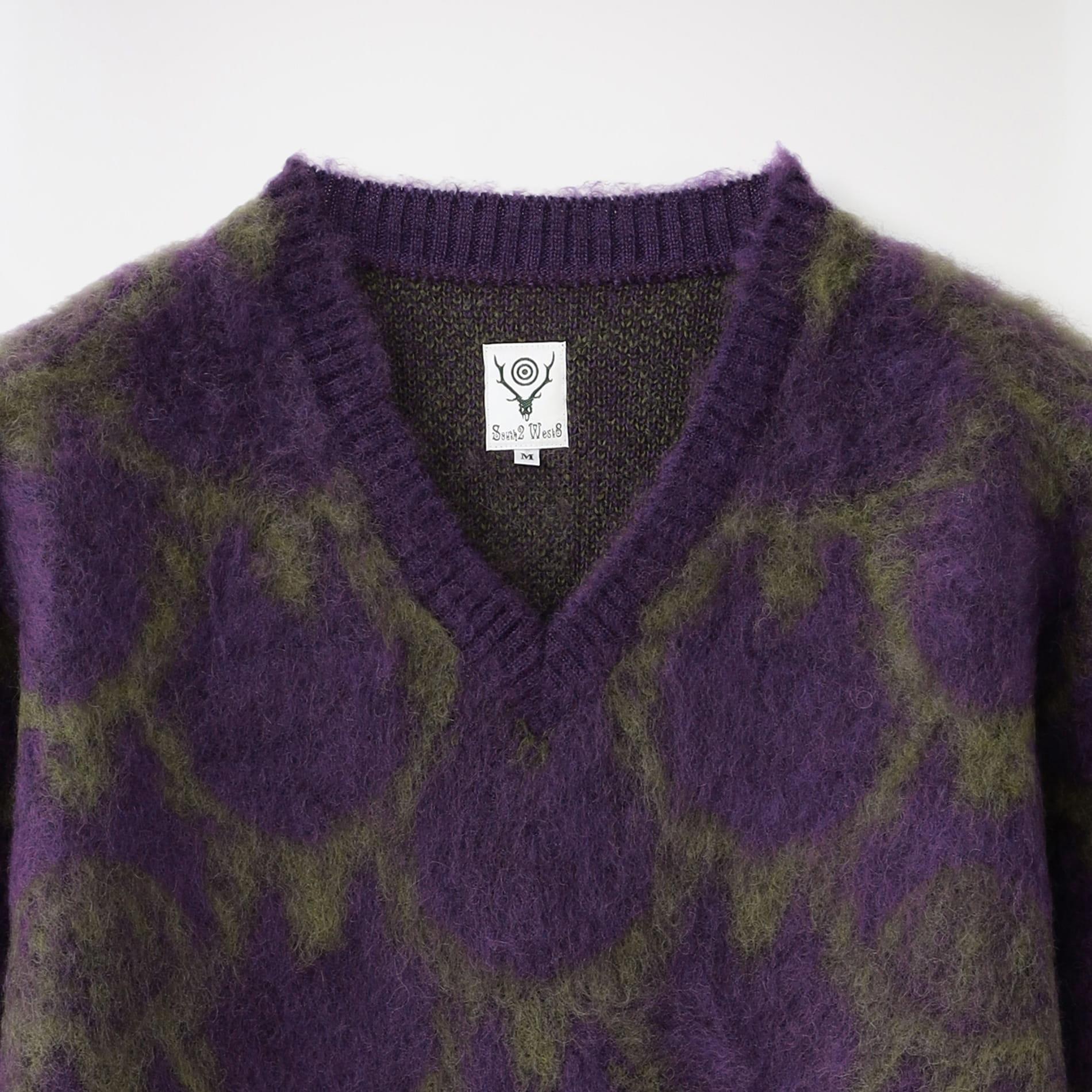 【South2 West8】MEN Loose Fit V Neck Sweater - Skull&Target JO867