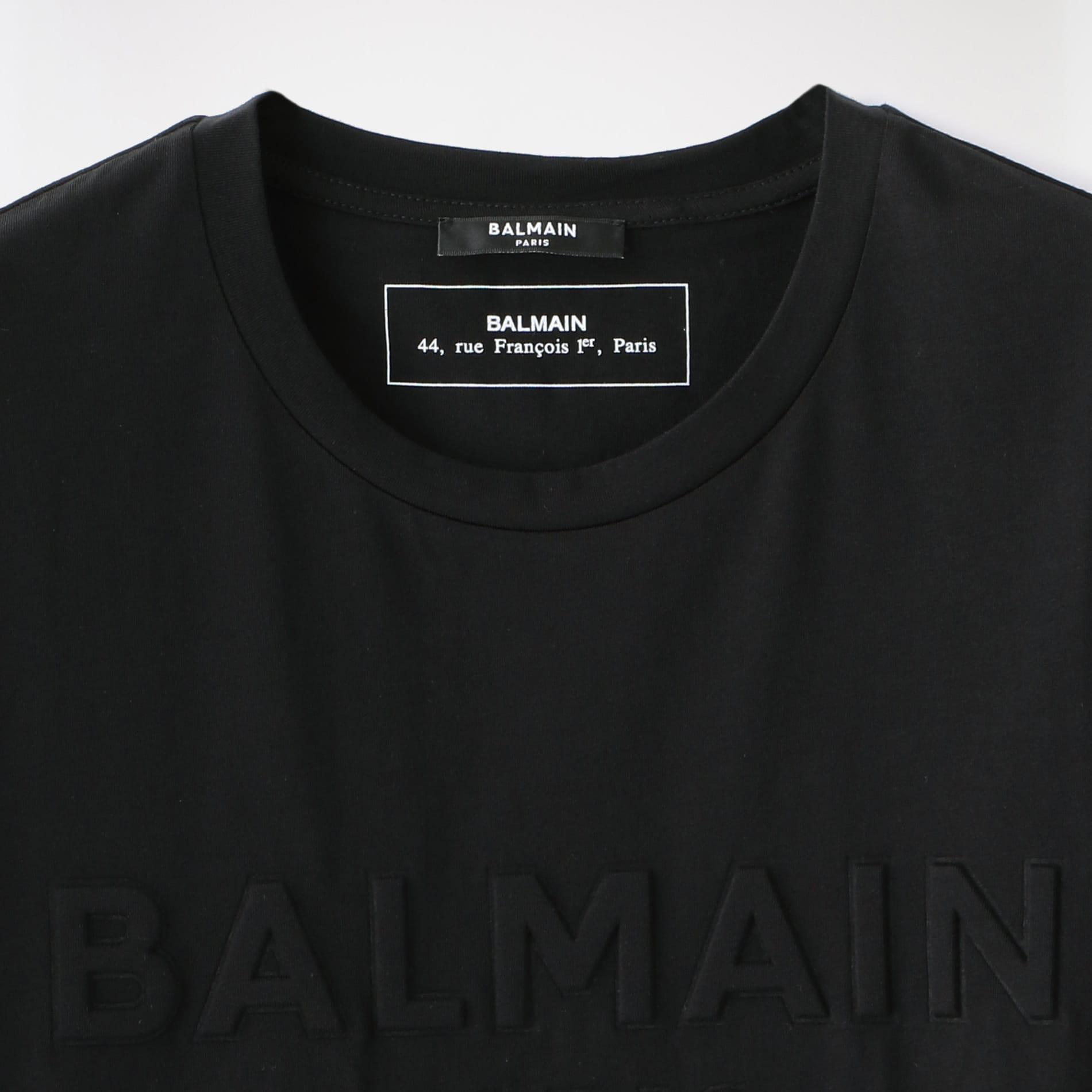 【BALMAIN】MEN EMBOSSED BALMAIN TS TH01601.I311
