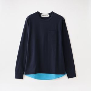 【ALOYE】MEN Shirt Fabrics - Long Sleeve Layerd T-shirt AY05789
