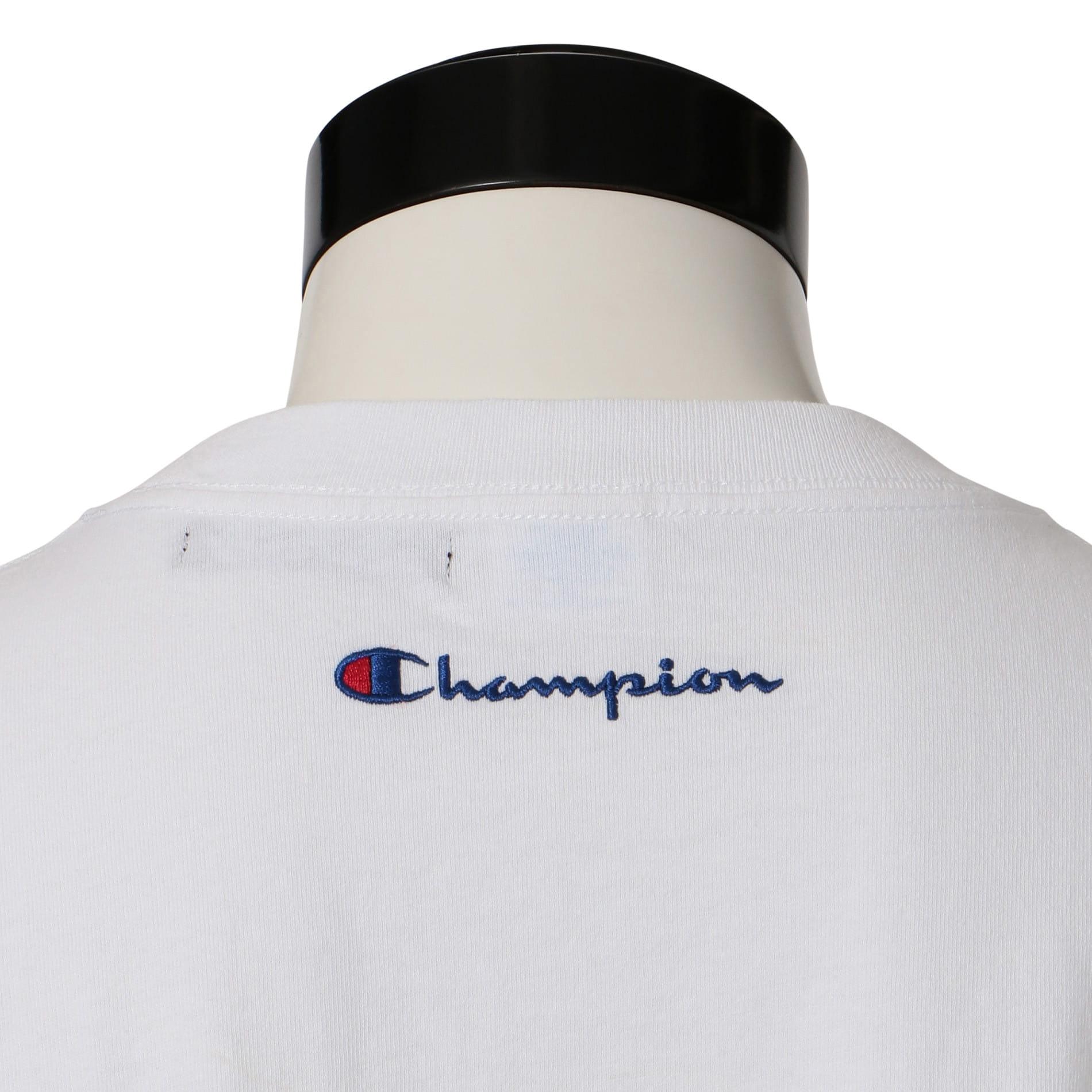 【Champion】MEN 別注ビッグシルエットエンブロイダリーポケットTシャツ