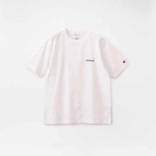 【Safari5月号掲載】【Champion exclusive for LOVELESS】MEN 別注 エンブロイダリーロゴTシャツ C8-R311
