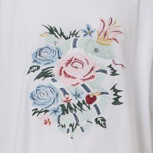 〈タイムセール〉【A(LeFRUDE)E】MEN 大へび刺繍Tシャツ